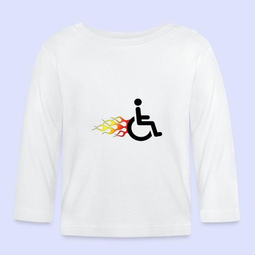 Rolstoel gebruiker met vlammen 009 - T-shirt