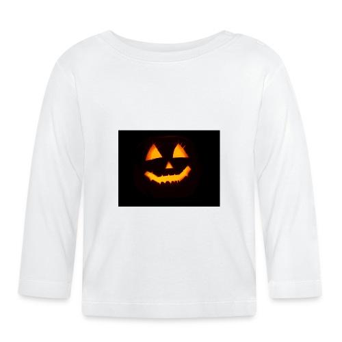 Halloween Kürbis Gesicht - Baby Langarmshirt