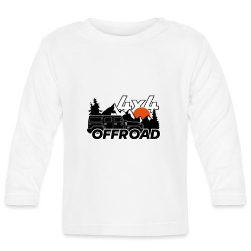 Offroad 4x4 Jeep Logo - Baby Langarmshirt