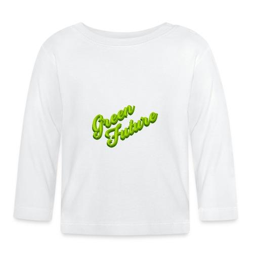 Nature Green Future - Typo - Baby Langarmshirt