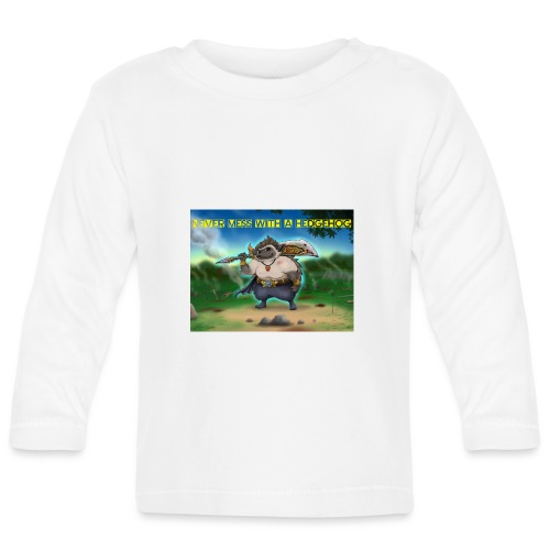Never mess with a Hedgehog - Baby Langarmshirt