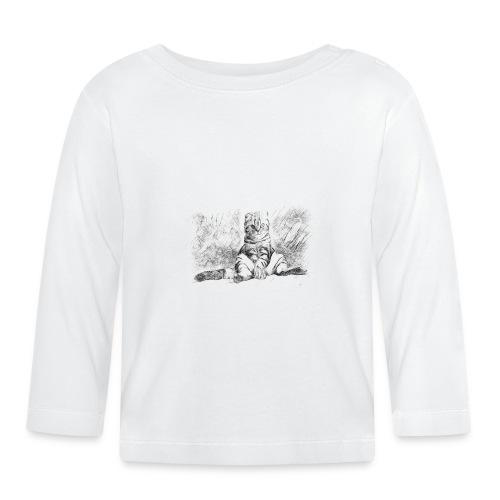 chat très cool - T-shirt manches longues Bébé