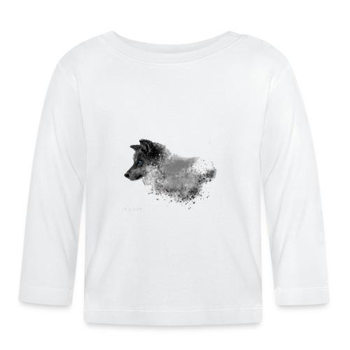 dog white - Baby Langarmshirt