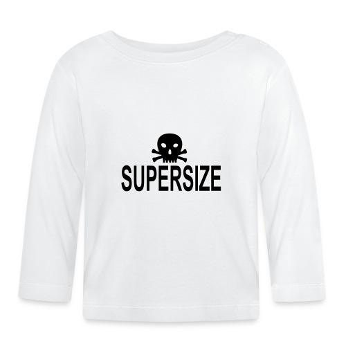 supersize skull totenkopf - Baby Langarmshirt