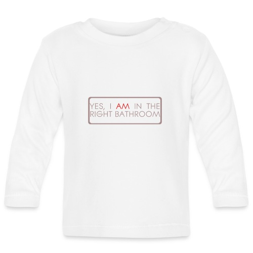 right_bathroom - Baby Long Sleeve T-Shirt