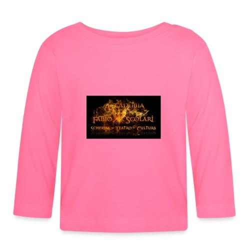 Accademia_Fabio_scolari_nero-png - Maglietta a manica lunga per bambini
