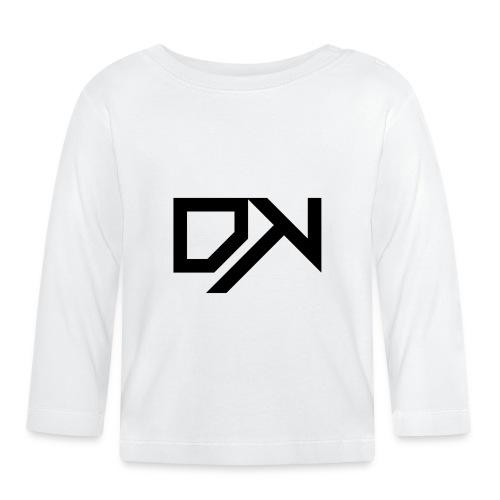 DewKee Logo Cap Black - Baby Long Sleeve T-Shirt
