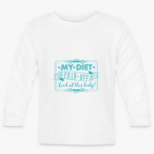 Handlettering My diet paid off (Turqoise) - T-shirt