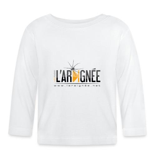 L'ARAIGNÉE, logo noir - T-shirt manches longues Bébé