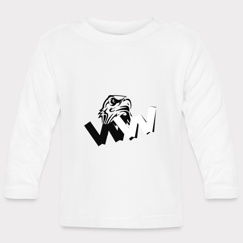 White and Black W with eagle - Baby Long Sleeve T-Shirt