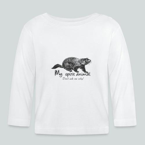 La marmotte est mon animal totem - T-shirt manches longues Bébé