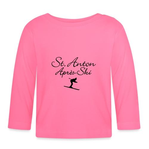 St. Anton Après-Ski Skifahrer - Baby Langarmshirt