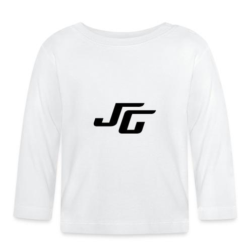 JG Logo schwarz - Baby Langarmshirt