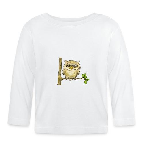 Lustige Eule, Uhu - Baby Langarmshirt