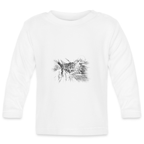 Chat dormeur - T-shirt manches longues Bébé