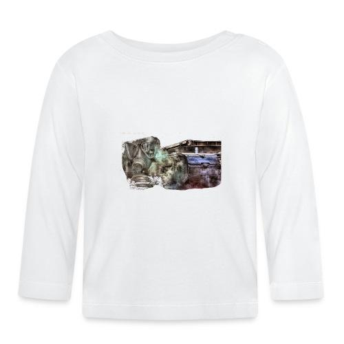 gas mask 2 white - Baby Langarmshirt