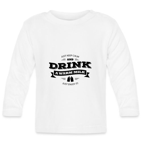 Drink Milk 2 - Baby Langarmshirt