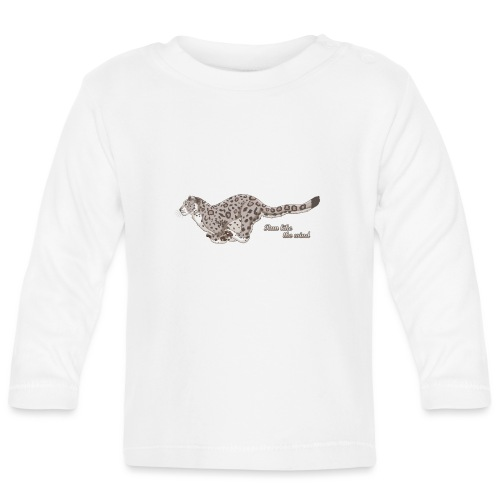 Snow Leopard: Run Like the Wind - Koszulka niemowlęca z długim rękawem