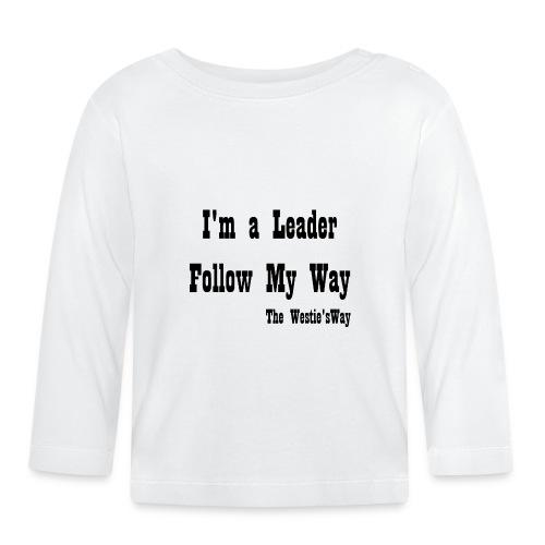 Follow My Way Black - Koszulka niemowlęca z długim rękawem