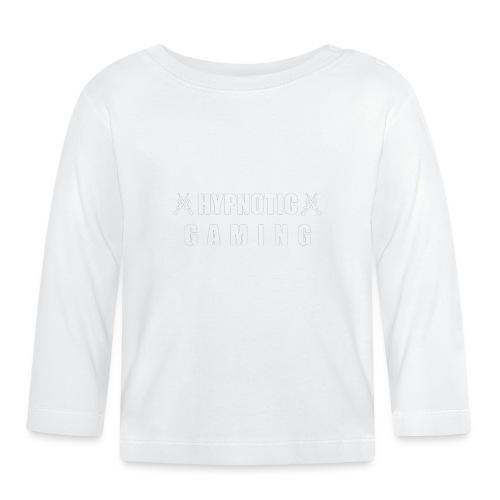 Vitt Loggotryck - Långärmad T-shirt baby