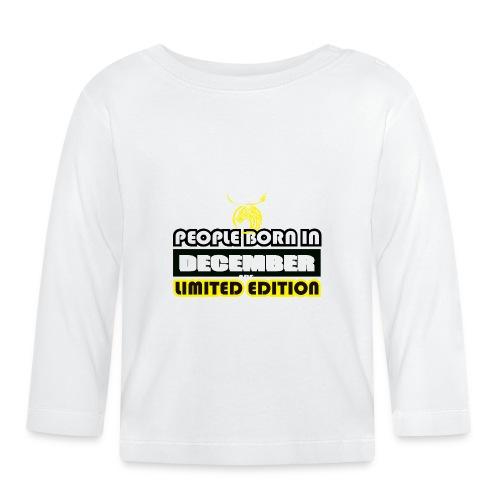 DECEMBER CRAZY LEGEND - Baby Long Sleeve T-Shirt