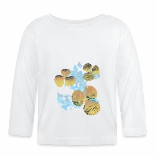 Orange Shells in Water / Conchiglie in acqua - Maglietta a manica lunga per bambini