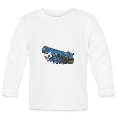 Mobile Crane 4-axle - Blue - Baby Long Sleeve T-Shirt