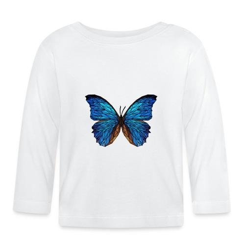 PAPILLON - LOW POLY (Outline) - T-shirt manches longues Bébé