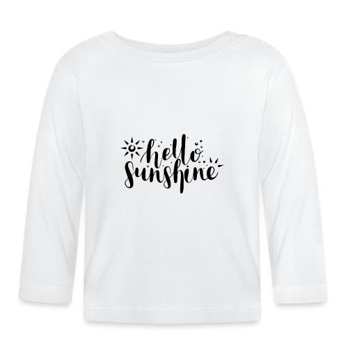 Hallo Sonnenschein - Baby Langarmshirt