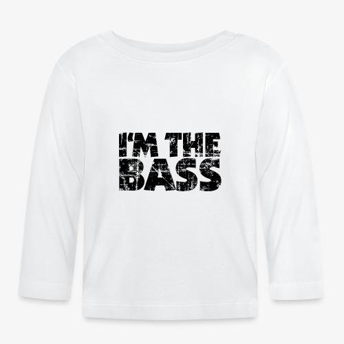 I'm the Bass Vintage Black - Baby Langarmshirt