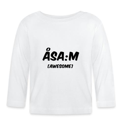 Åsa:m [awesome] - Långärmad T-shirt baby