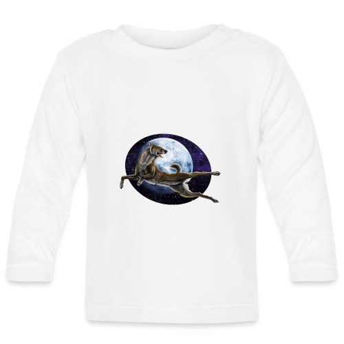 Galaxy Wolf - Baby Langarmshirt
