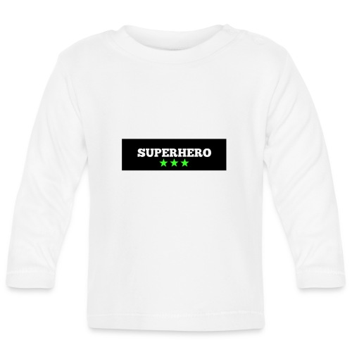 Lätzchen Superhero - Baby Langarmshirt
