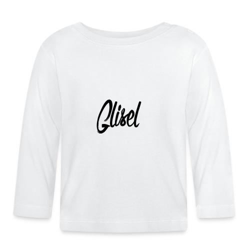 Glisel Logo schwarz transparent - Baby Langarmshirt