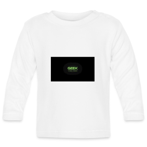 geek_binary_life_style - Camiseta manga larga bebé
