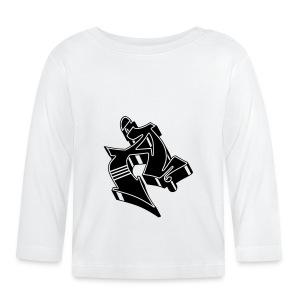 Graffiti 3D Block Letter Black A - Baby Langarmshirt