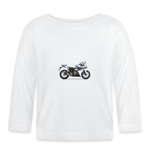 cbr500r white big - Baby Langarmshirt