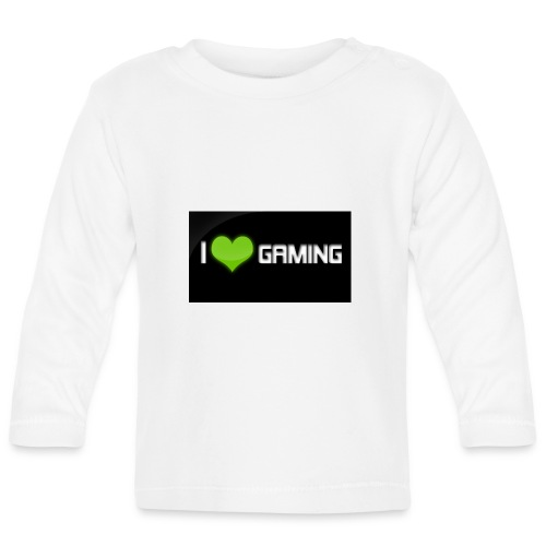 I Love Gaming Shadow Gamer - Baby Langarmshirt