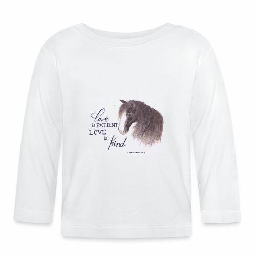 Pferd mit Bibelvers - Baby Langarmshirt