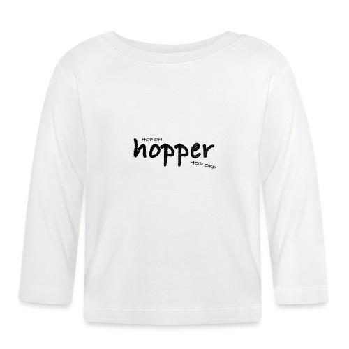 MuchoHop Hop On/Off (black) - Camiseta manga larga bebé