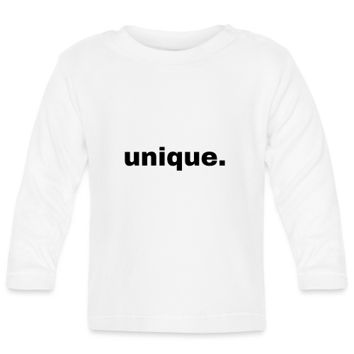 unique. Geschenk Idee Simple - Baby Langarmshirt
