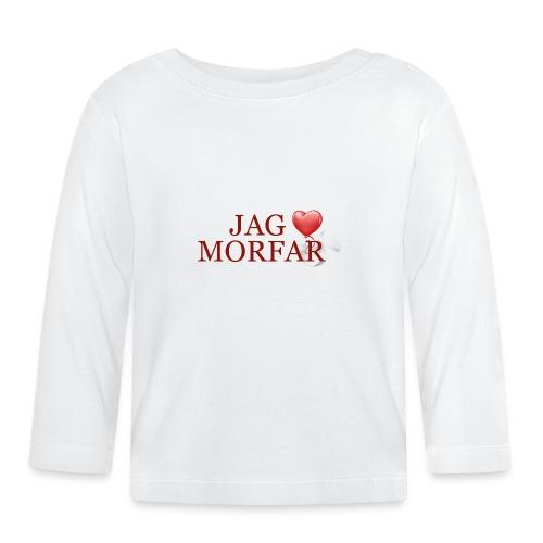 Jag älskar morfar - Långärmad T-shirt baby