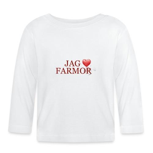 Jag älskar farmor - Långärmad T-shirt baby