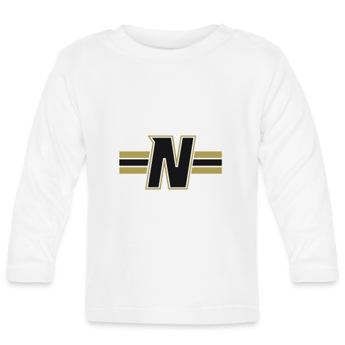 Nordic Steel Black N with stripes - Baby Long Sleeve T-Shirt