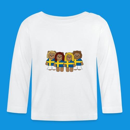 Abba Sweden Bears.png - Baby Long Sleeve T-Shirt