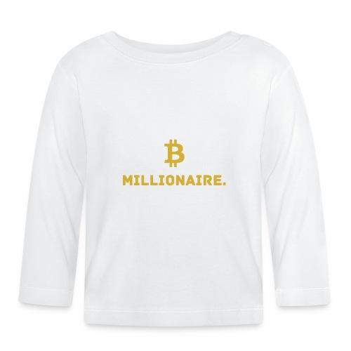 Millionaire. X Bitcoin Millionaire. - Baby Long Sleeve T-Shirt
