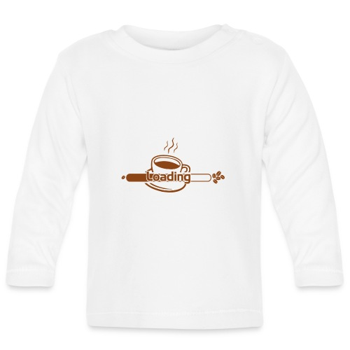 coffee loading - Baby Langarmshirt