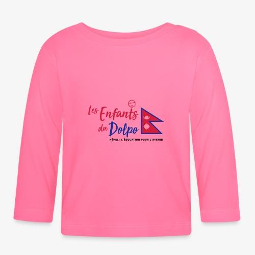 Les Enfants du Doplo - Grand Logo Centré - T-shirt manches longues Bébé