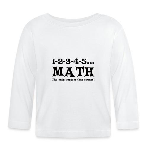 Black Math Counts - Baby Long Sleeve T-Shirt