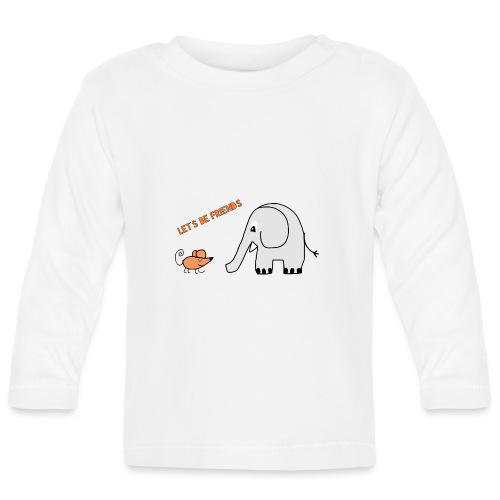 Elephant and mouse, friends - Baby Long Sleeve T-Shirt
